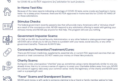 Common Scams Targeting Older Coloradans in the Age of Coronavirus
