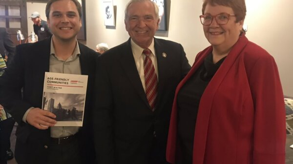 Mayor Henry with Addison Pollock and Linda Dunno