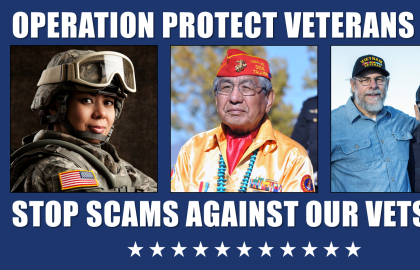 Protect Veterans: Stand Guard against Veterans Scams
