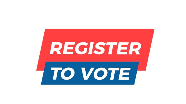 Register to Vote graphic design element. Vector illustration