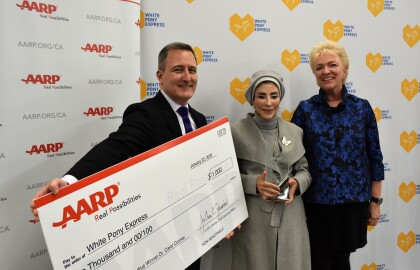 Founder of Pleasant Hill's White Pony Express Receives AARP California's Most Prestigious Volunteer Award for Camp Fire Relief Efforts