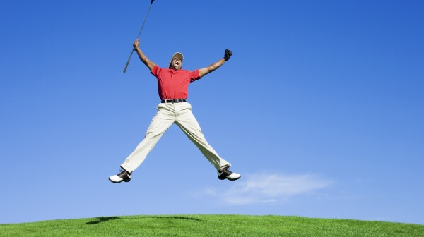 Enthusiastic Golfer