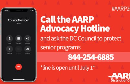 Use AARP's Advocacy Hotline to Call Councilmembers