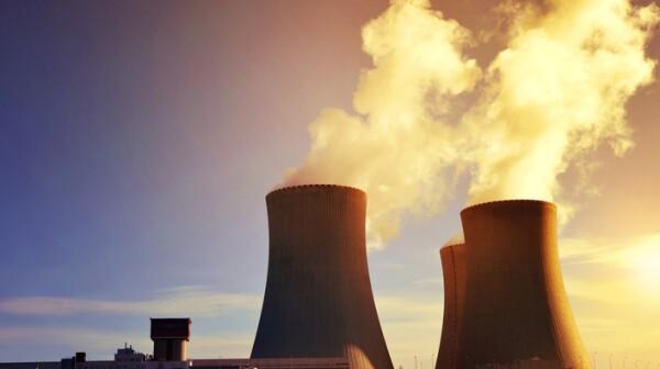 Nuclear power plant Temelin at sunrise.