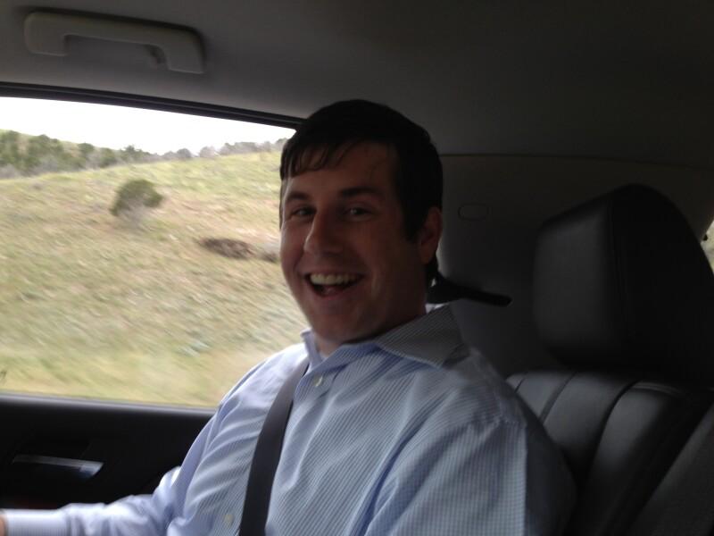 Danny driving to Cedar City
