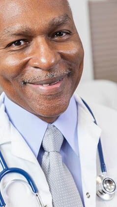 Senior African American Male Doctor With Stethoscope