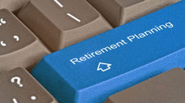 Keyboard with key for Retirement planning