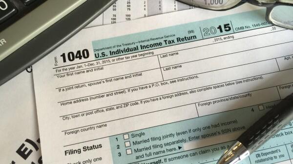 Tax form 2015
