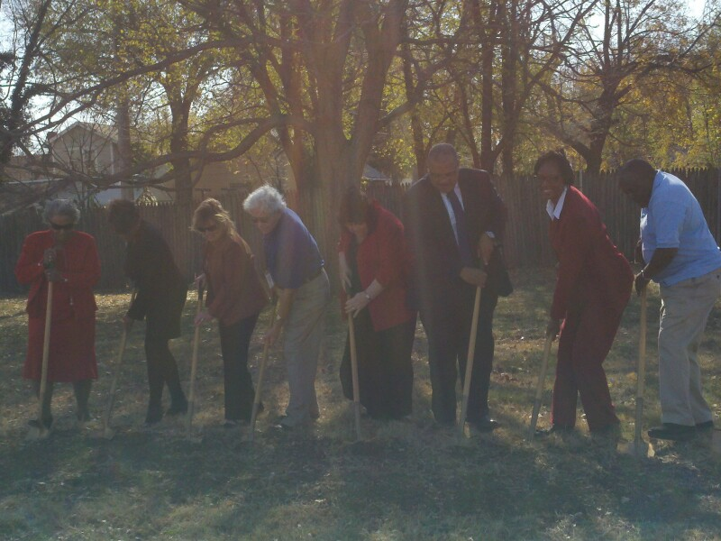 Groundbreaking for Grandparent Park in Tri-S Neighborhood in Wichita