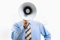 istock man with megaphone