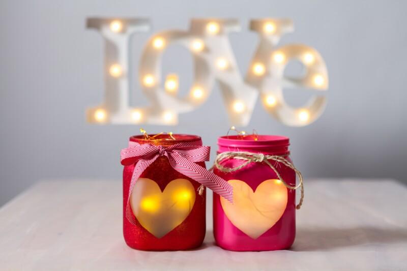 mason jar heart