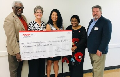 AARP Community Challenge Grant Recipient Check Presentation