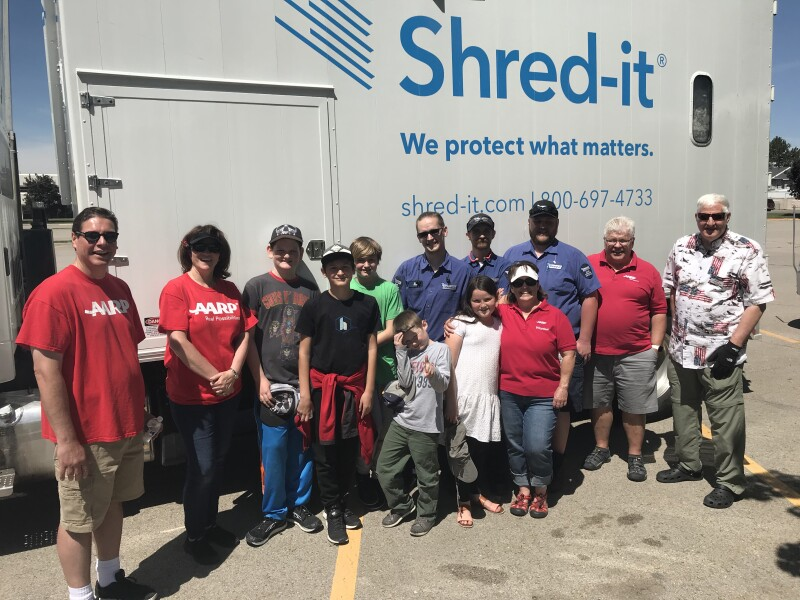 Orem shredding group photo