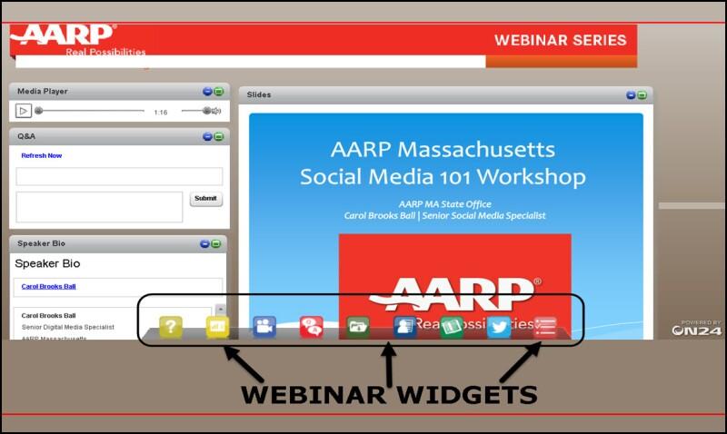 Screengrab of Webinar on-demand Widgets