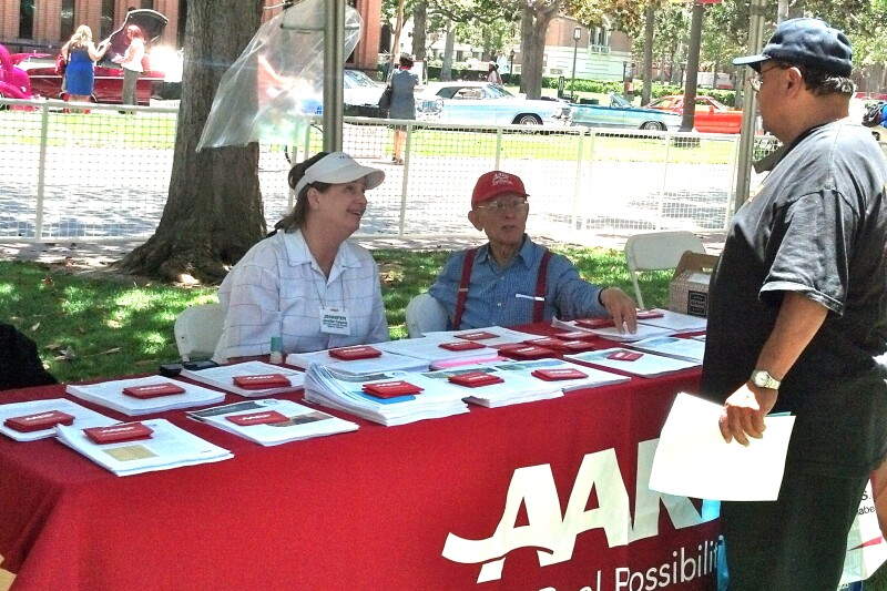 AARP Volunteers at Men's Health Awareness Day