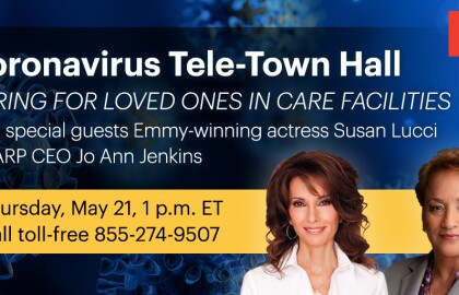 Live Q&A: Caring for Loved Ones in Care Facilities with Emmy-winning actress Susan Lucci and AARP CEO Jo Ann Jenkins