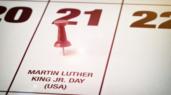 MLK Day calendar