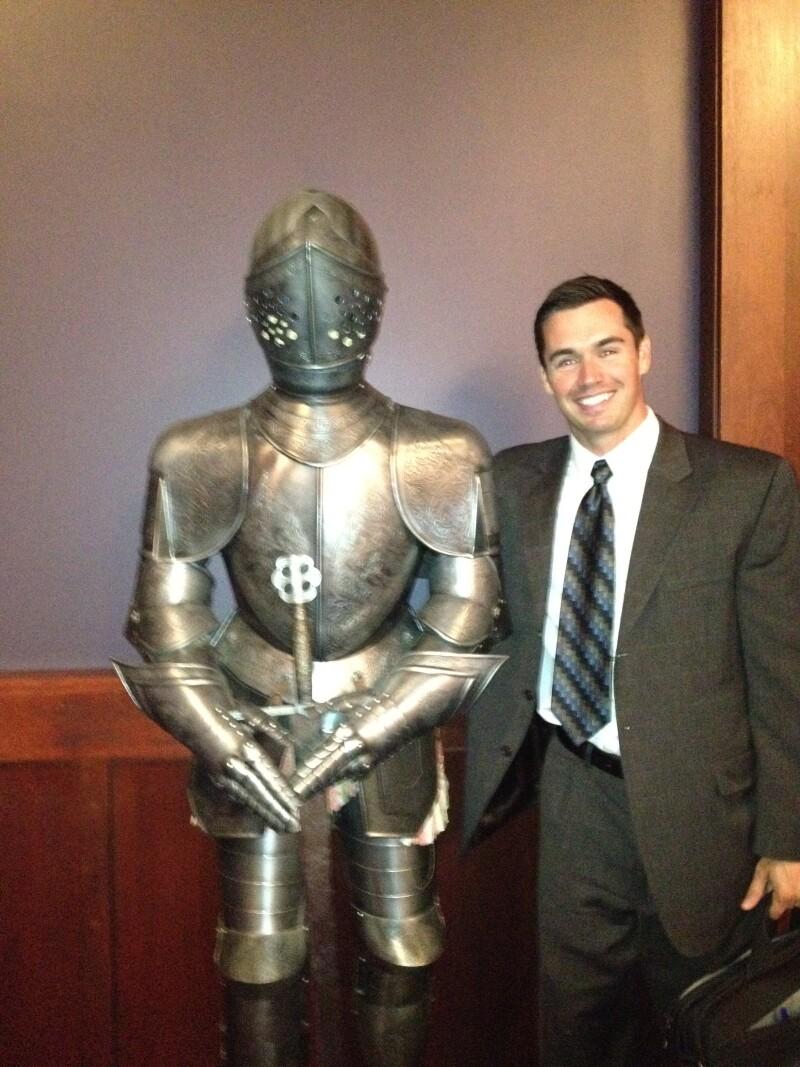 Utah Securities Division Enforcement Director Tom Brady and friend