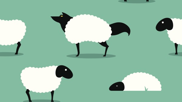 Wolf In Sheeps Clothing seamless Background idiom