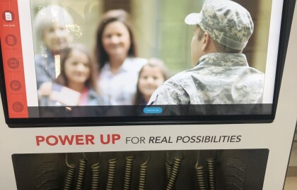 Power Up at New Charging Station for Vets
