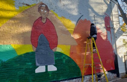 AARP Challenge Grant helps make vibrant mural possible in downtown Wilmington