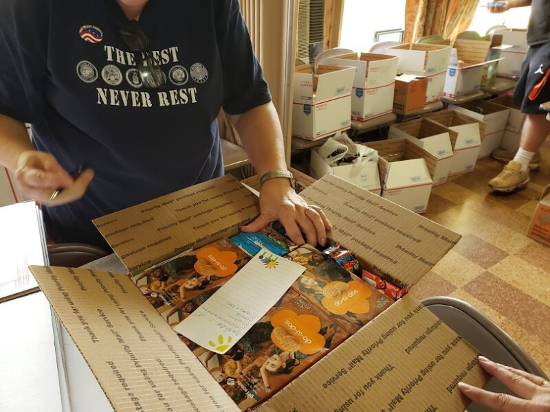 Packing boxes veterans