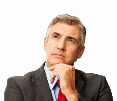 Thoughtful Businessman Looking Away
