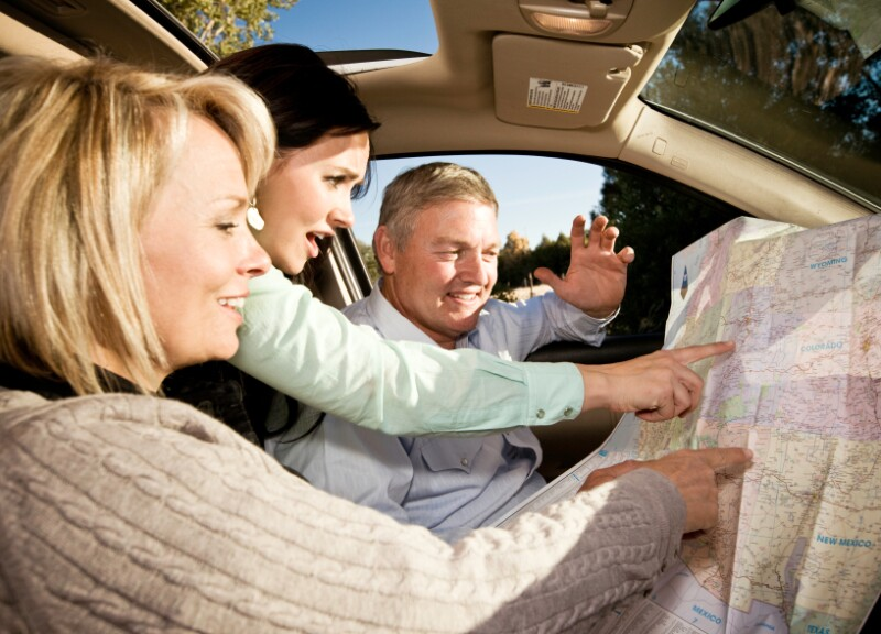 Driving with Utah map
