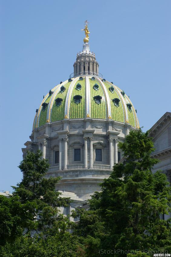 PA Capitol Building with attribution