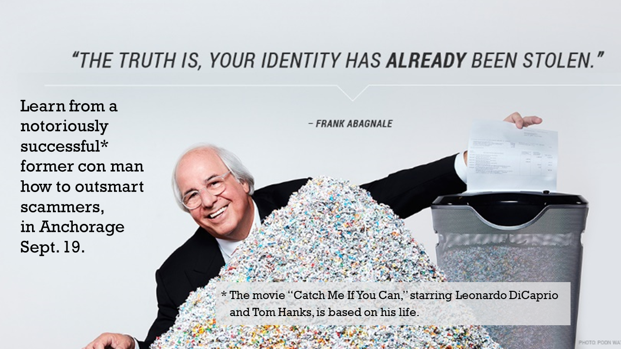 Catch Identity Theft Expert Frank Abagnale Sept. 19